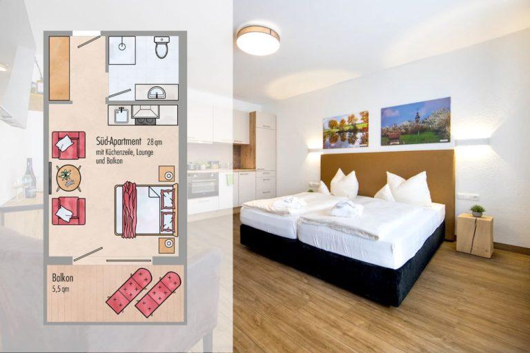 Balkon-Apartment